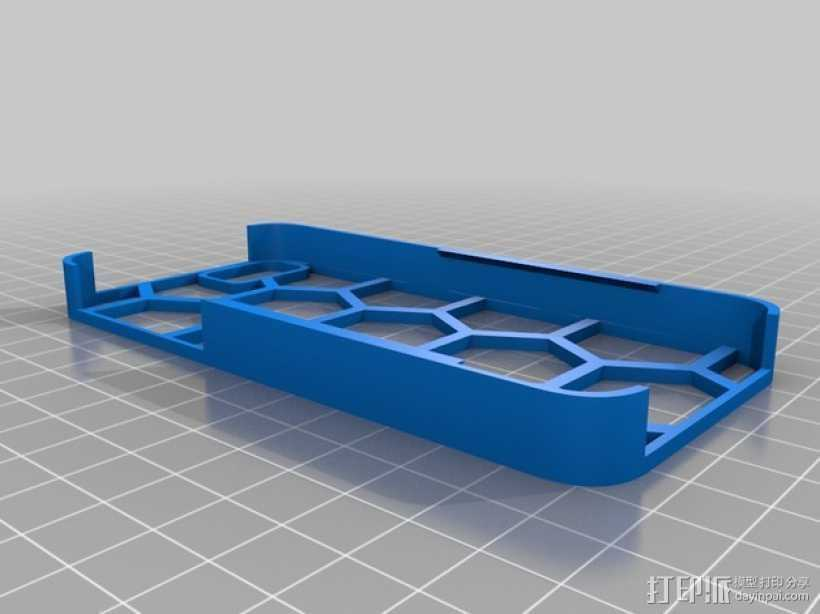 六边形图案iPhone手机外壳 3D打印模型渲染图