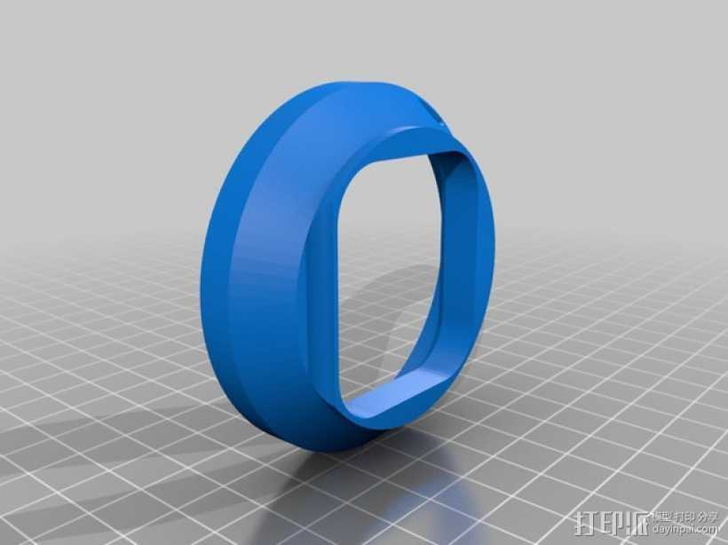 GoPro Hero 3相机减光镜罩 3D打印模型渲染图