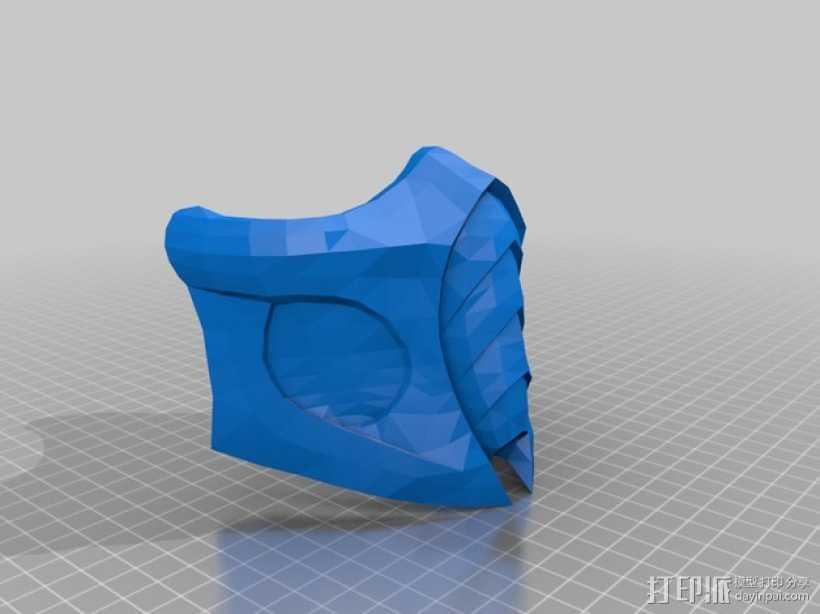 真人快打 面具 3D打印模型渲染图
