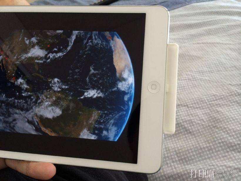iPad mini 平板电脑扩音装置 3D打印模型渲染图