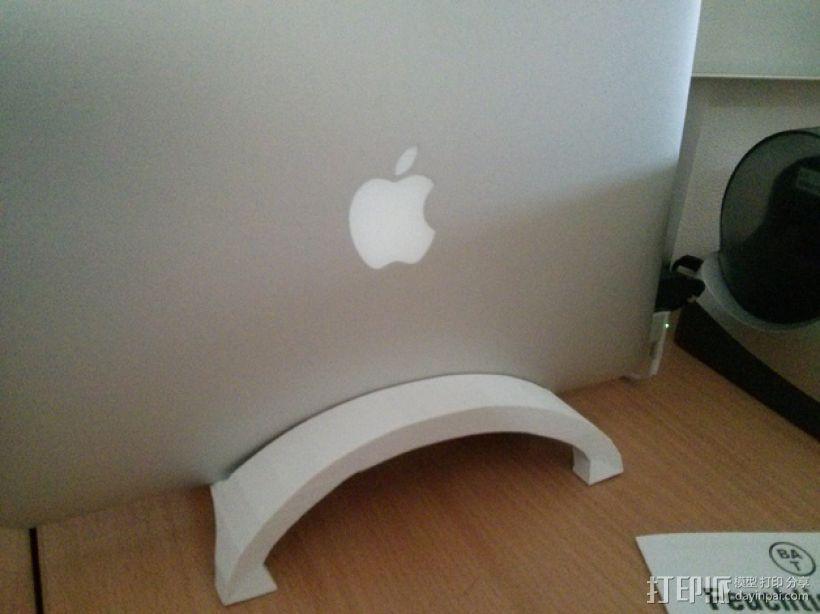 苹果Macbook Air笔记本电脑支架 3D打印模型渲染图