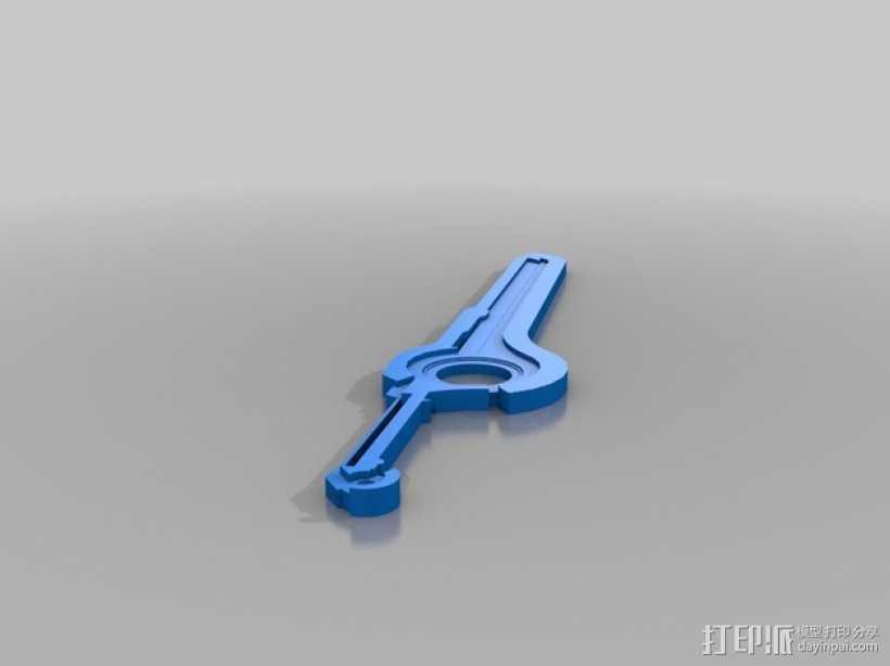 异度之刃 刀剑模型 3D打印模型渲染图