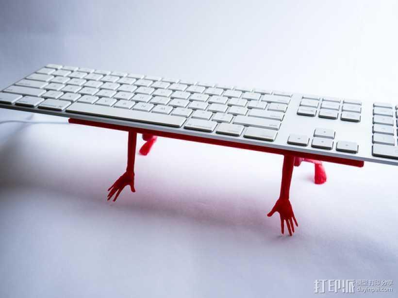 键盘架 3D打印模型渲染图