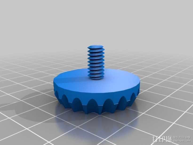 脚架蝶形螺钉 3D打印模型渲染图