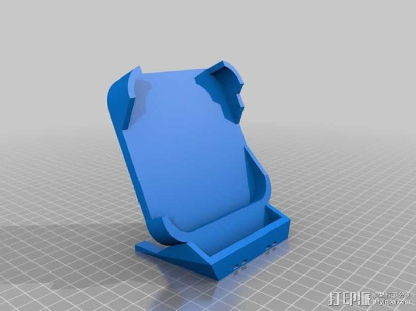 Nexus 5 CHOE QI无线充电板的充电站架 3D打印模型渲染图