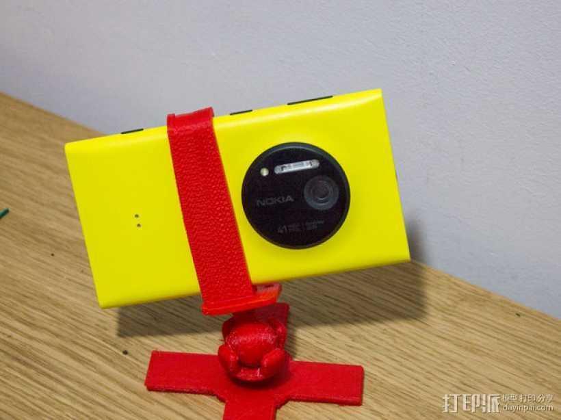 Lumia 1020调整式三脚架 3D打印模型渲染图