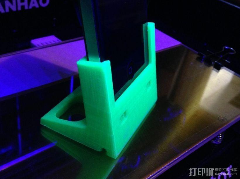 iPhone 4/4s充电座 3D打印模型渲染图