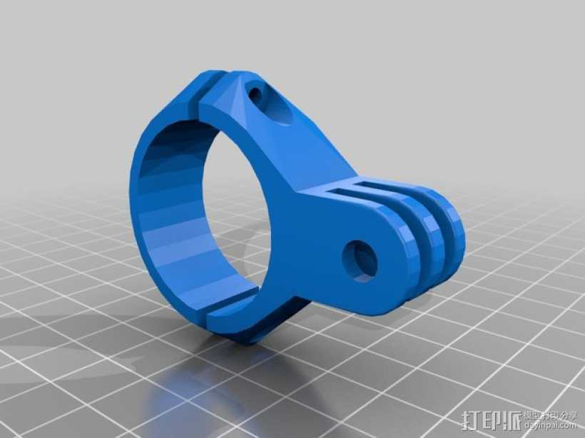 GoPro相机手柄连接器 3D打印模型渲染图