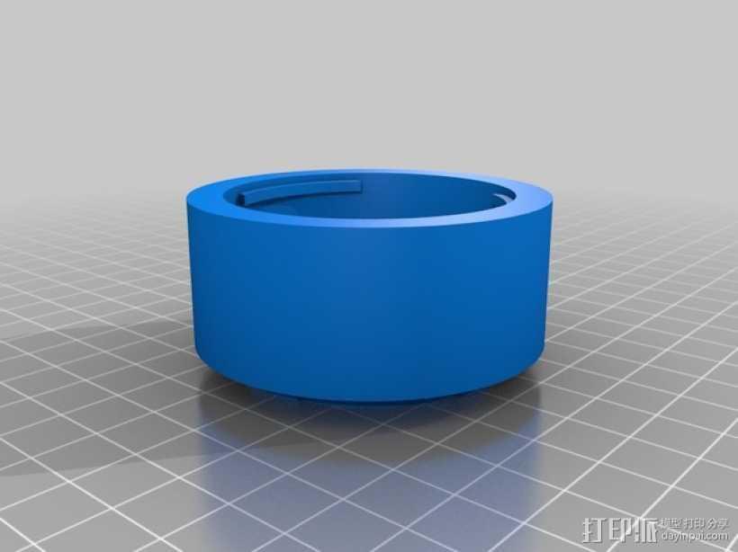 FUJICA-X接索尼E卡口转接环 3D打印模型渲染图