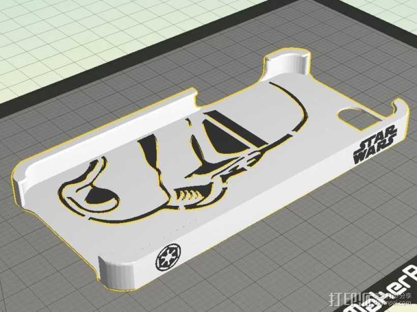 帝国风暴兵iPhone5 手机外壳 3D打印模型渲染图