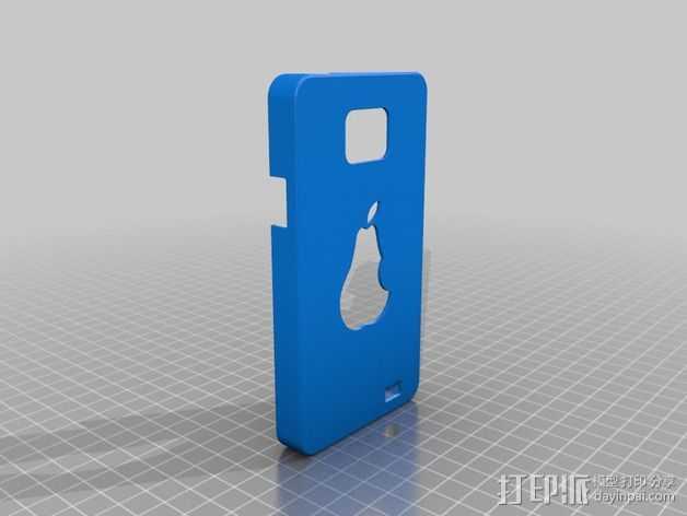 三星galaxy SII :梨形手机套 3D打印模型渲染图