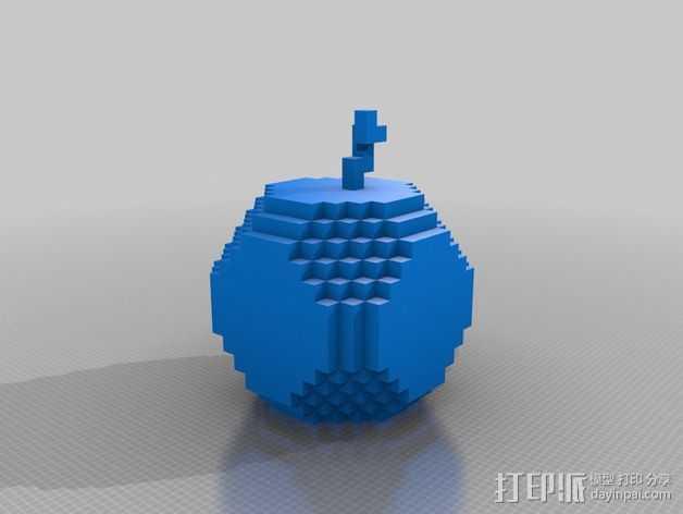 挖矿争霸金苹果 3D打印模型渲染图