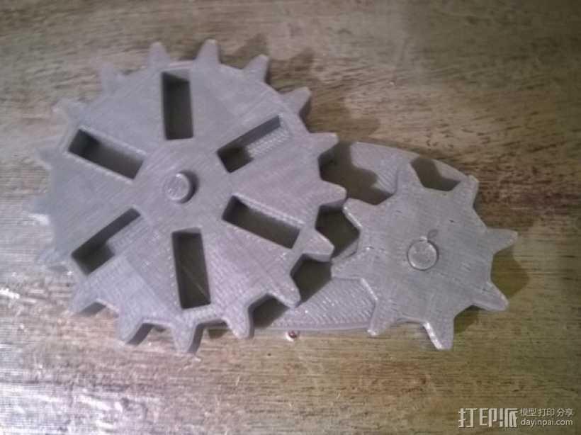 蒸汽朋克齿轮USB 3D打印模型渲染图