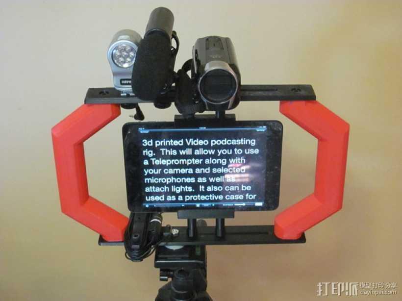 视频播客装备 3D打印模型渲染图