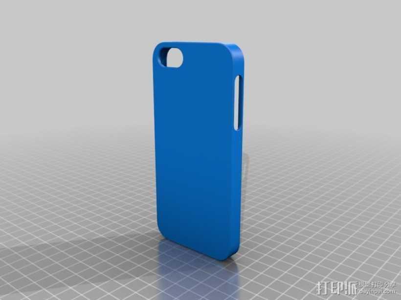 iphone 5s纯色手机套 3D打印模型渲染图