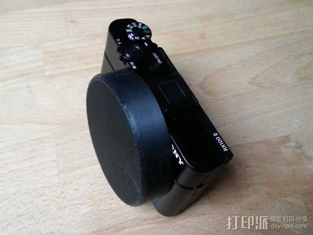 Sony RX100M2相机镜头盖 3D打印模型渲染图