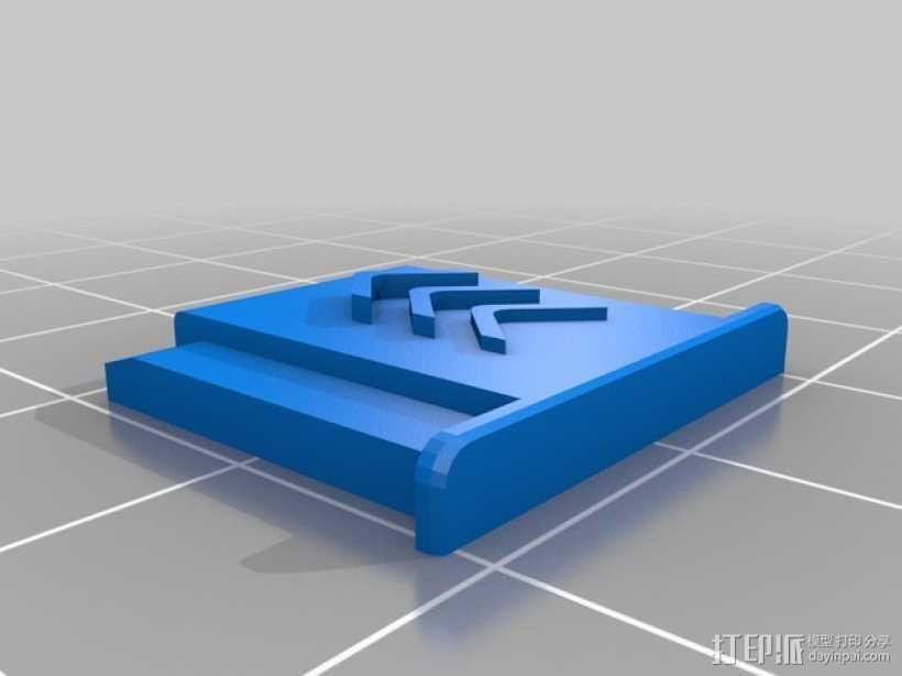 闪光灯热靴盖 3D打印模型渲染图