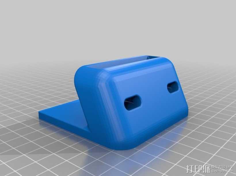 iPhone手机扩音器 手机座 3D打印模型渲染图