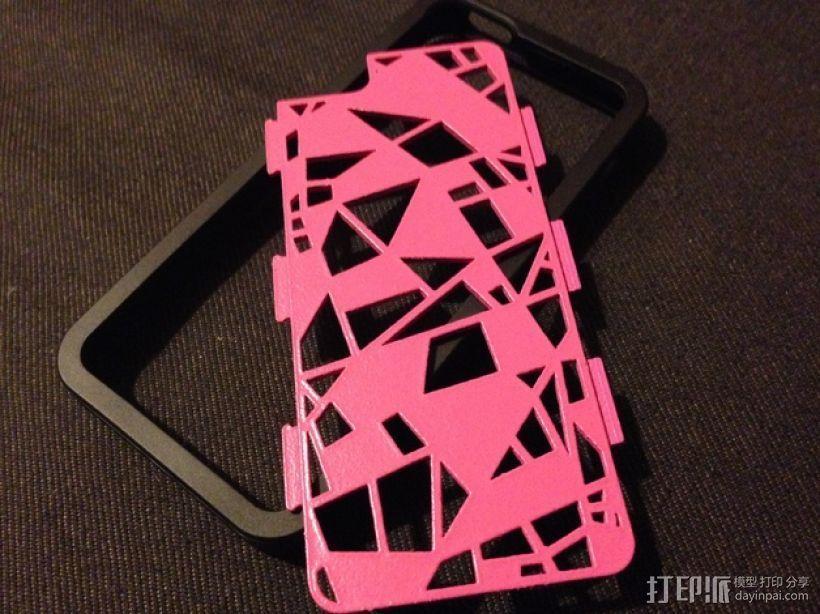 FraemesOpen粉碎 iPhone 5/5S手机套 3D打印模型渲染图