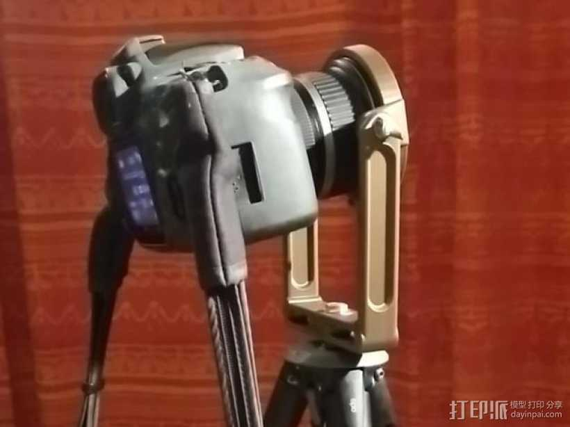 佳能10-22mm镜头360x180全景头、球形头 3D打印模型渲染图
