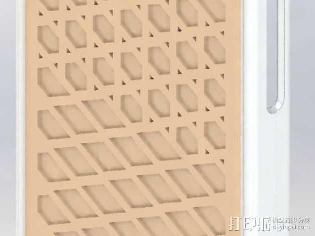 万斯风格 iPhone 5c手机套 3D打印模型渲染图