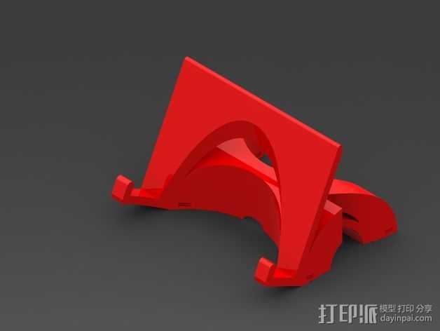 三星 Galaxy Note 3 站架 3D打印模型渲染图