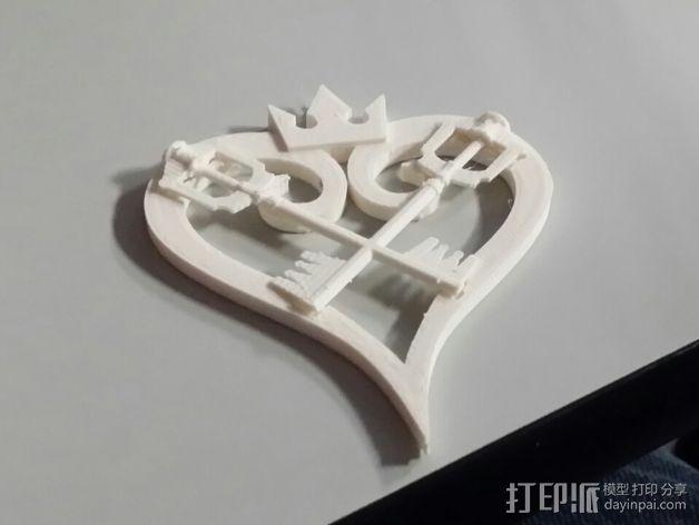 王国守护钥匙 3D打印模型渲染图