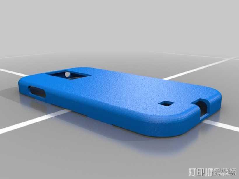 三星Galaxy S4 手机套 3D打印模型渲染图
