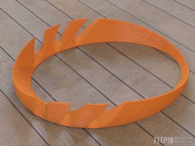 iPad环形站架 3D打印模型渲染图