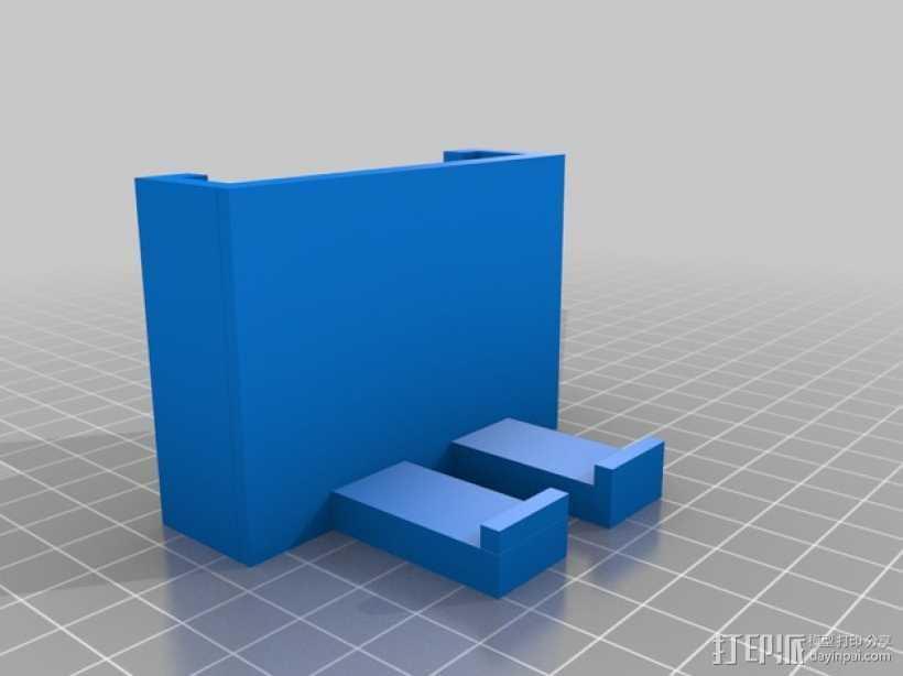 简易iphone车用支架 3D打印模型渲染图