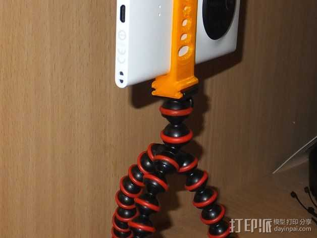 Lumia 1020对Jobi Gorillapod的适配器 3D打印模型渲染图