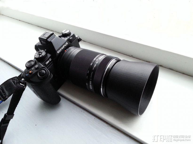 参数化法兰镜头遮光罩 3D打印模型渲染图