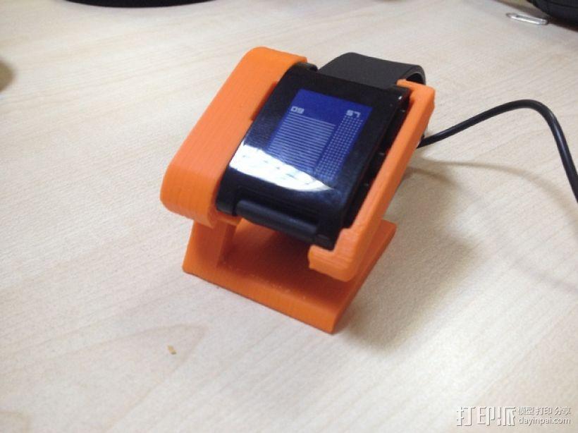 智能腕带充电座 3D打印模型渲染图