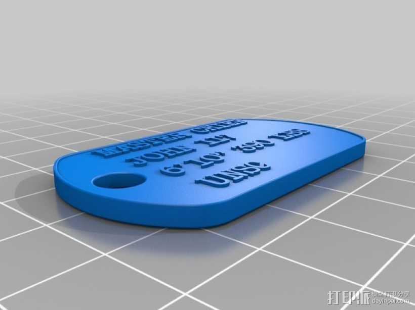 狗狗身份识别器 3D打印模型渲染图