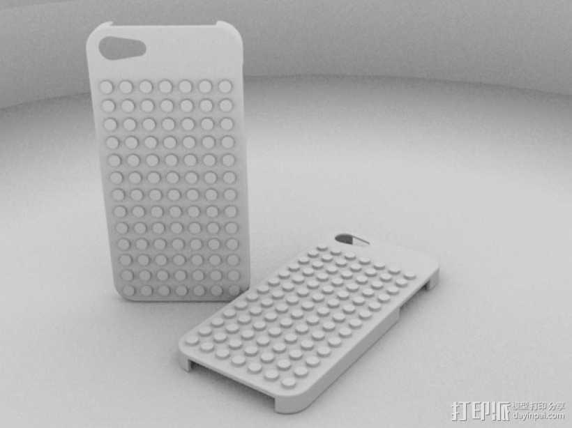 乐高 iphone 5/5s 手机套 3D打印模型渲染图