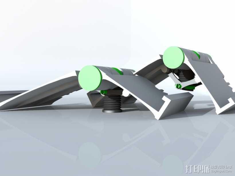 可调整式平板站架 3D打印模型渲染图