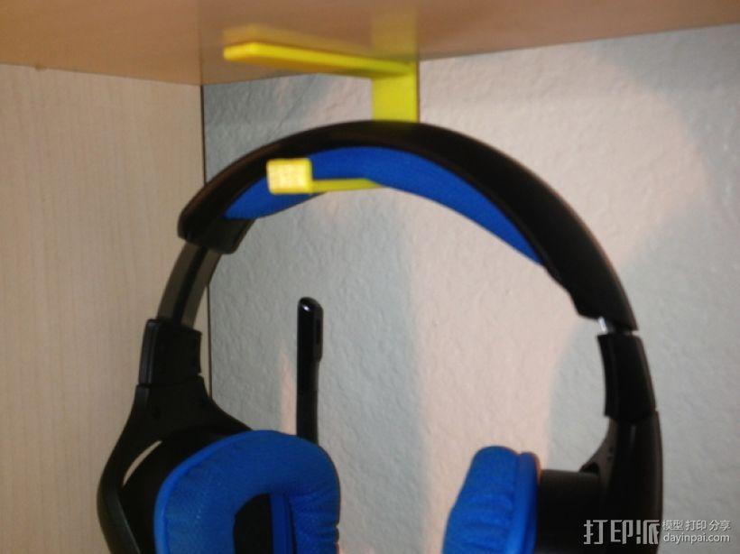 书架耳机挂钩 3D打印模型渲染图