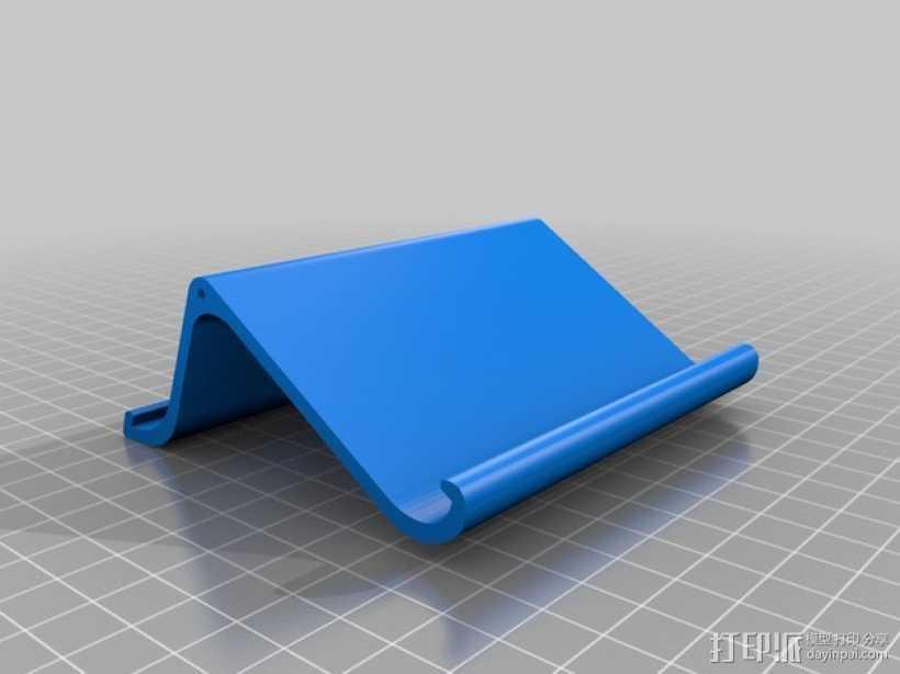 双面iPad站架 3D打印模型渲染图