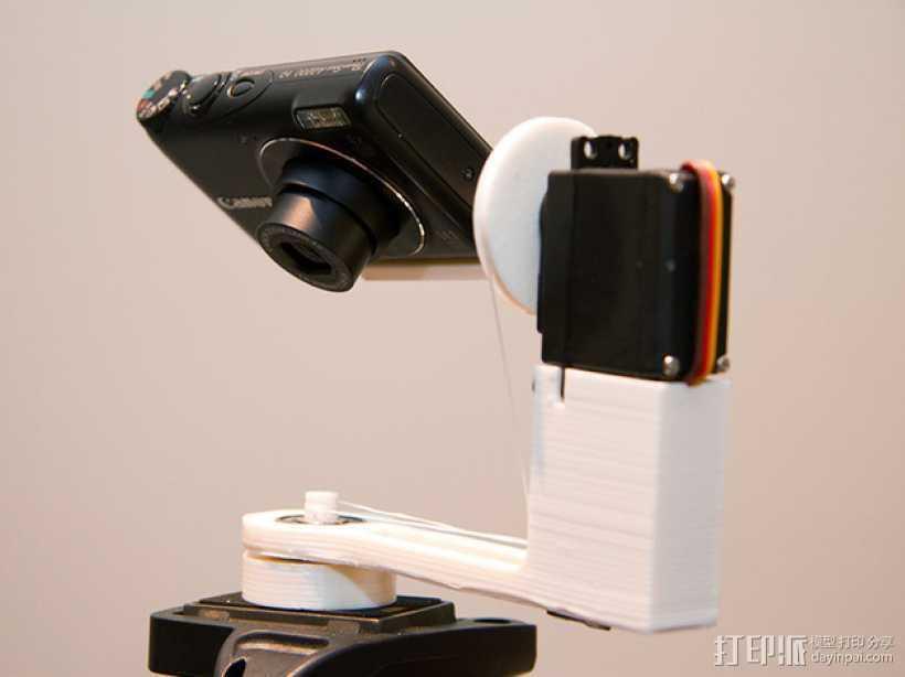 可旋转 相机支撑架 3D打印模型渲染图