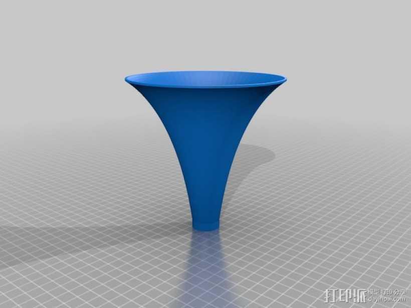 等切矩曲线喇叭 3D打印模型渲染图