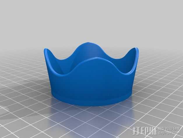 尼康相机镜头罩  3D打印模型渲染图