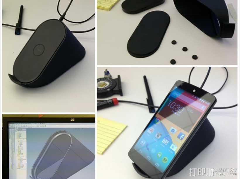 Nexus 5 无线充电架 3D打印模型渲染图