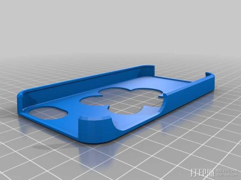 iPhone 4S镂空花手机套 3D打印模型渲染图