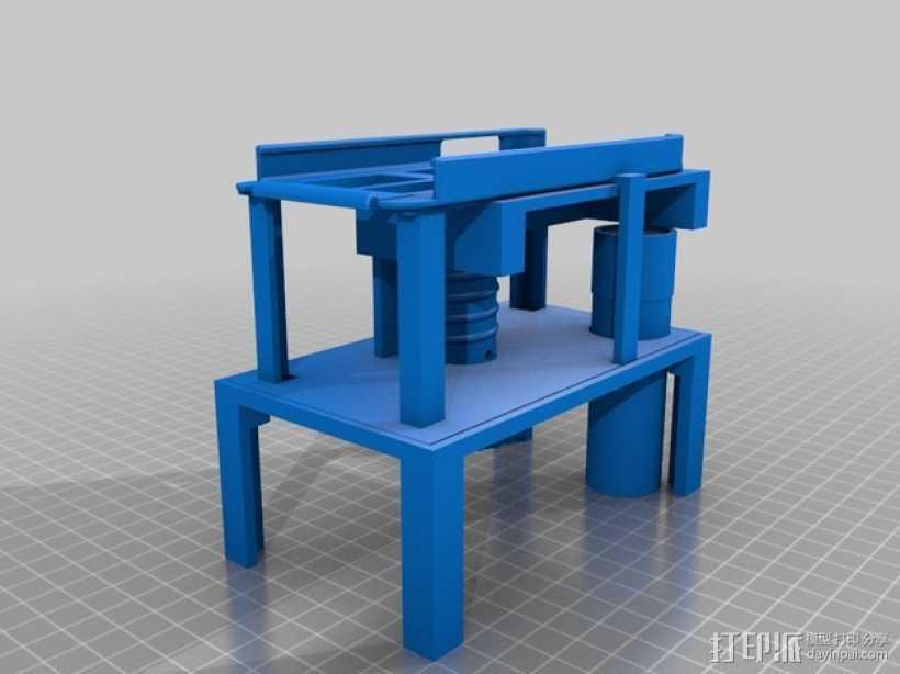智能手机显微镜 3D打印模型渲染图