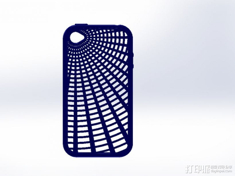 灵活式Iphone4 手机套 3D打印模型渲染图
