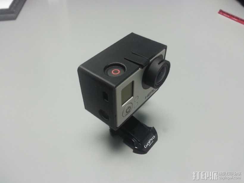GoPro Hero 3 +相机固定框 3D打印模型渲染图