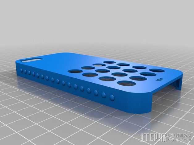 iPhone 5s防滑手机套 3D打印模型渲染图