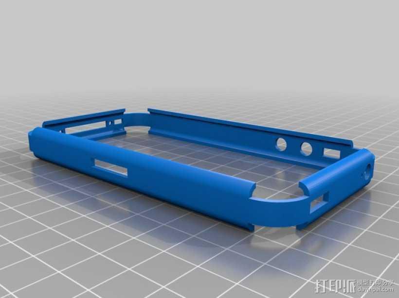 iPhone 4S手机保护外壳 3D打印模型渲染图