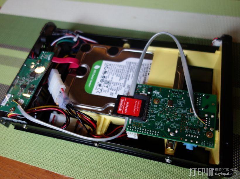 Raspberry Pi 树莓派电路板保护盒 3D打印模型渲染图