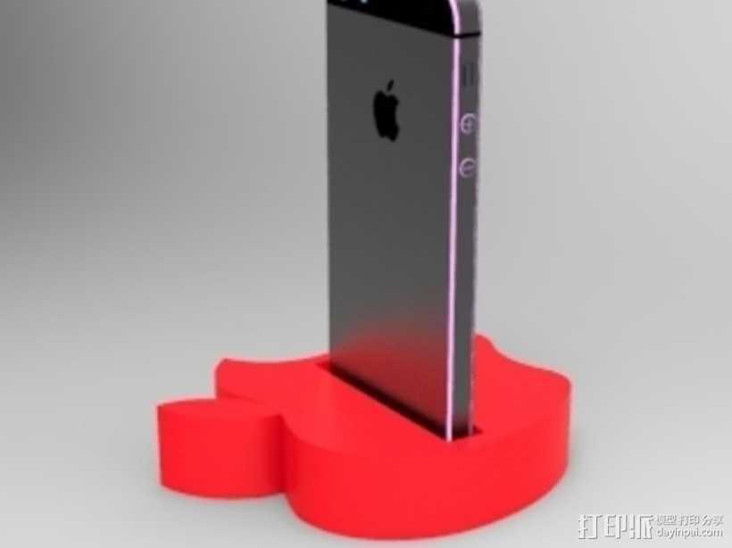 苹果手机座 手机架 3D打印模型渲染图